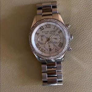 Silver Micheal Kors watch
